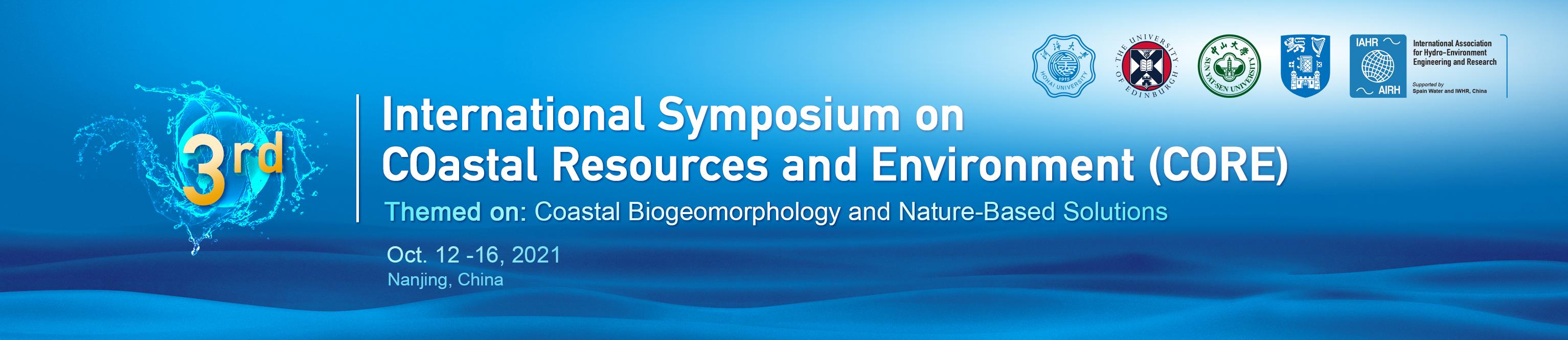 International Symposium on Coastal Resources and Environment (CORE2021)