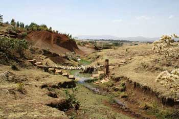 Mountain river in the Gumera catchment, located in the Lake Tana sub-basin in the Amhara Region, Ethiopia
