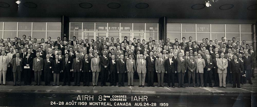 1959 | 8th IAHR Congress in Montreal, Canada.