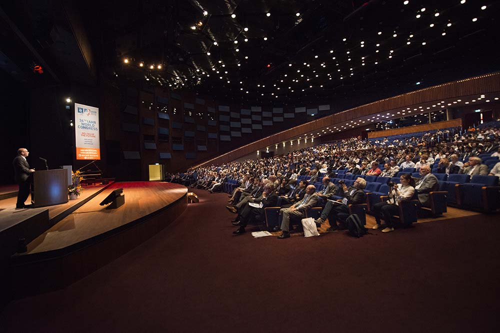 Opening of the 36th IAHR World Congress in The Hague, The Netherlands.