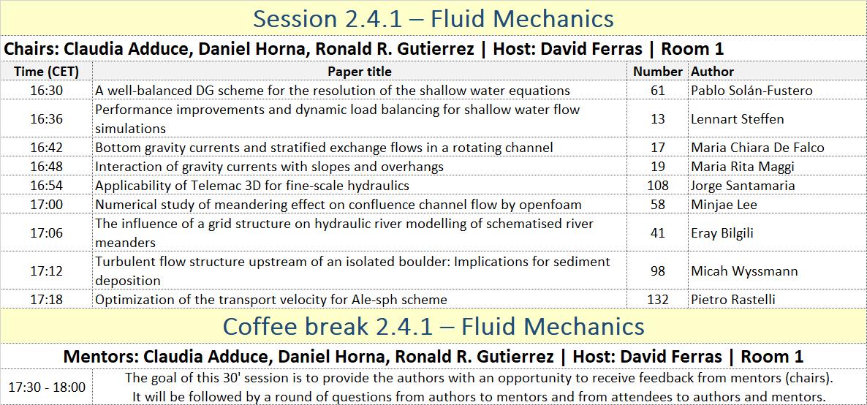 Session 2.4.1. - Fluid Mechanics