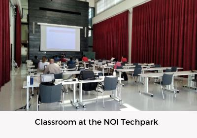 Classroom at the NOI Techpark