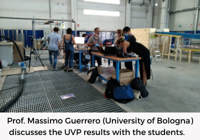 Prof. Massimo Guerrero (University of Bologna) discusses the UVP results with the students.